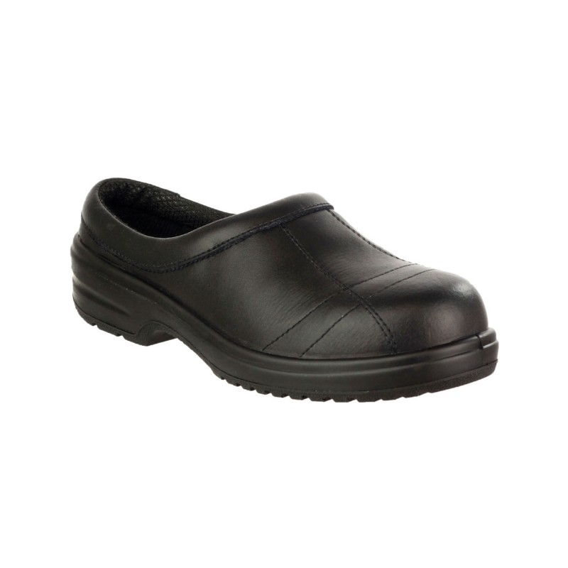 Amblers Safety Metal Free Clog Style Slip On FS93C Ladies Work Shoes