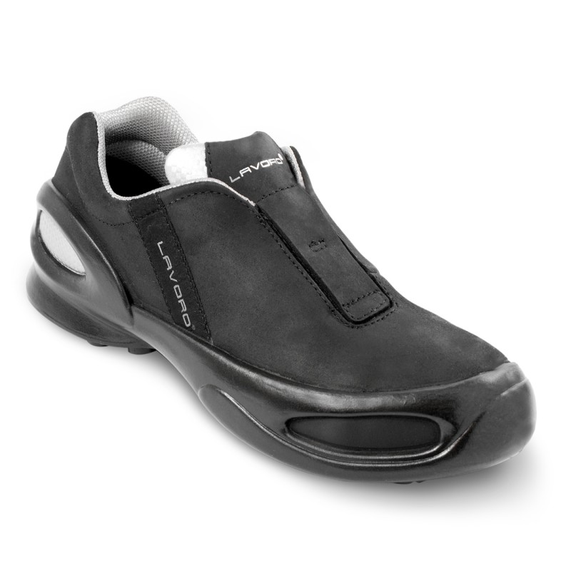 Cat Woman Black Lightweight Leather Ladies Safety Shoes From Lavoro
