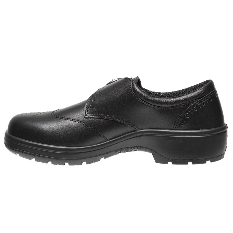Parade Dolby Smart Executive Slip On Womens Black Brogue Safety Shoes