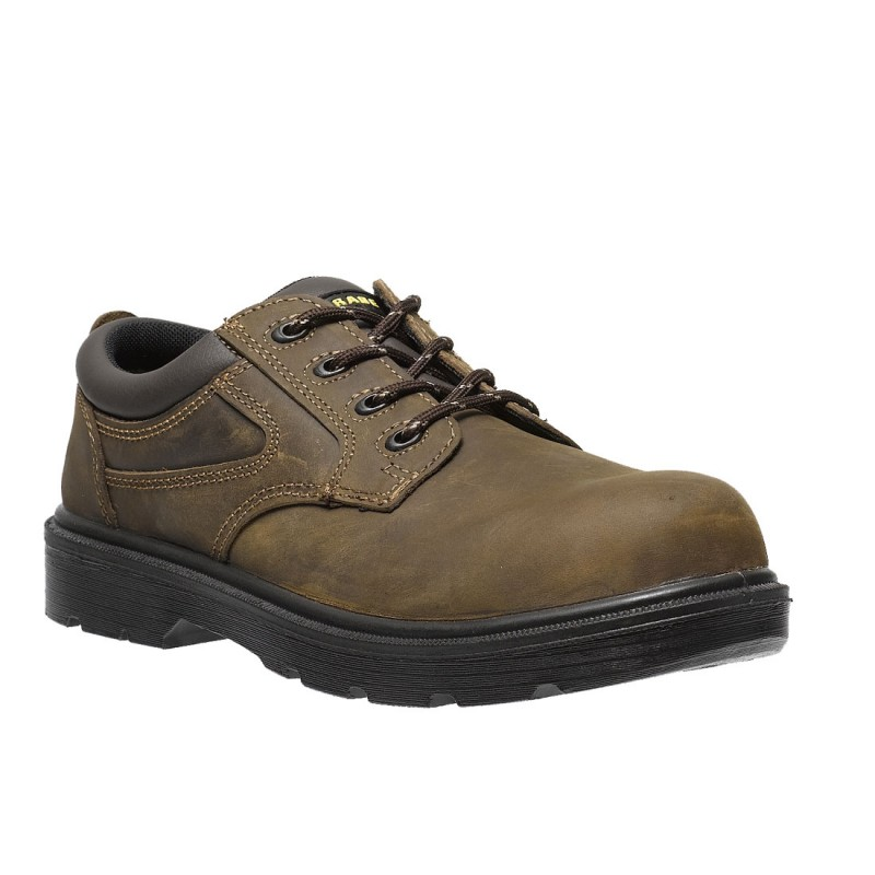 Parade Safety Footwear Metal Free Brown Leather First Mens Safety Shoes