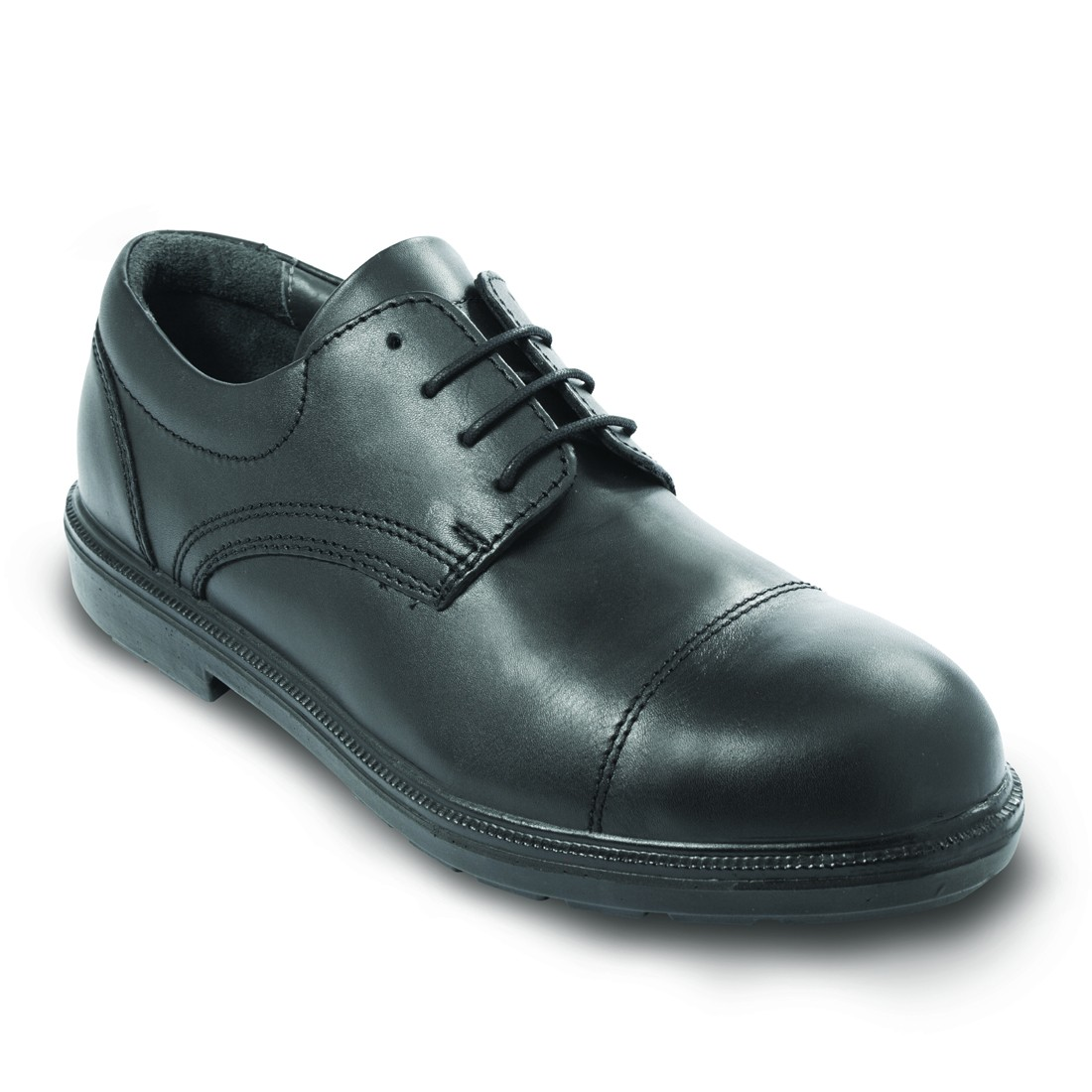 Cambridge Black Leather S3 Smart Executive Safety Shoes From Lavoro