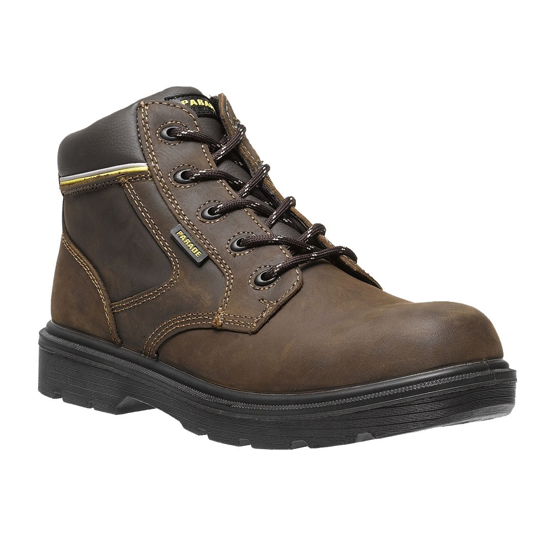 Mens Brown Safety Shoes