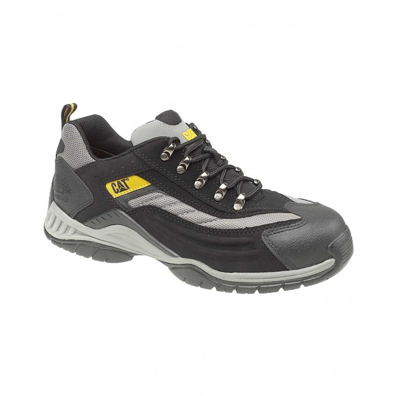 f76a79c7325 Caterpillar Moor Grey Black Steel Toe Mens Safety Trainer Work Shoes
