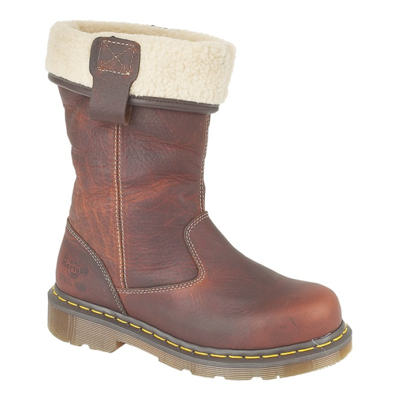 093b59352 Dr Martens Rosa Premium Leather Fleece Lined Ladies Safety Rigger ...