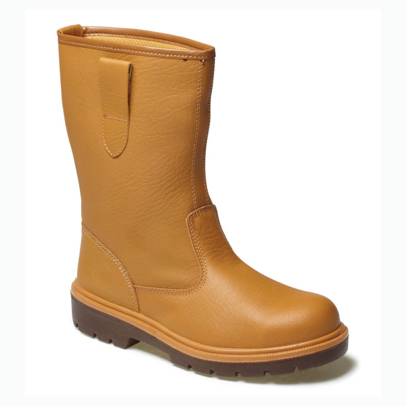 db67dde99d2 Dickies Traditional Unlined Tan Leather Mens S3 Safety Rigger Boots