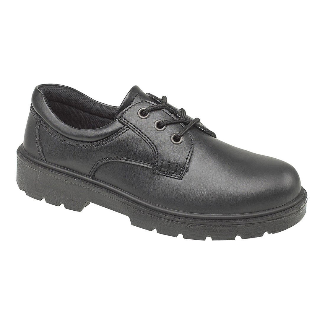Ambler Safety Black Smooth Mono Leather Gibson Fs41 Unisex Work Shoes