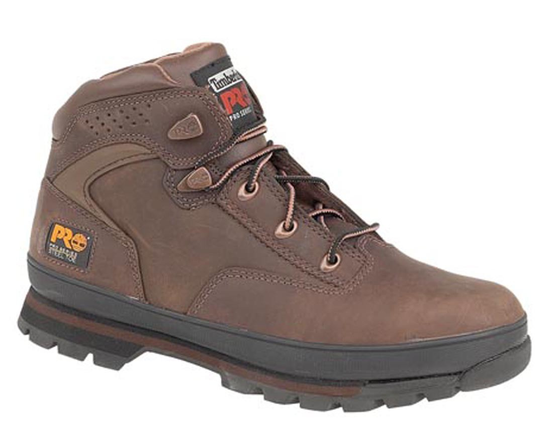 Timberland Pro 6201065 Lace Up Euro Hikers Brown Leather Safety Boots