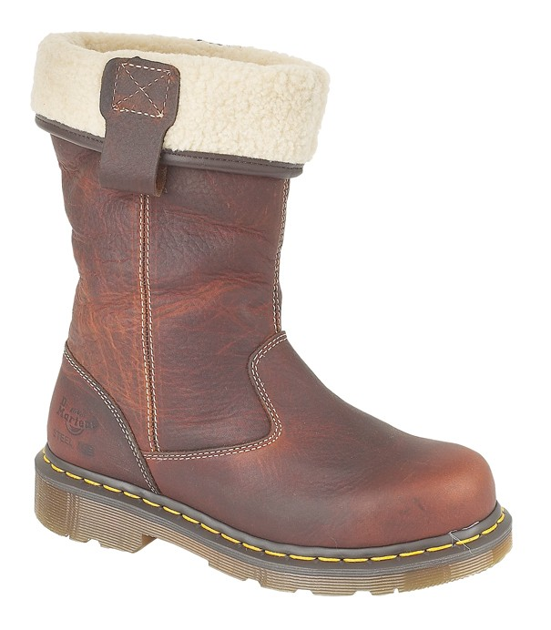 35901fa4b Dr Martens Rosa Premium Leather Fleece Lined Ladies Safety Rigger Boots