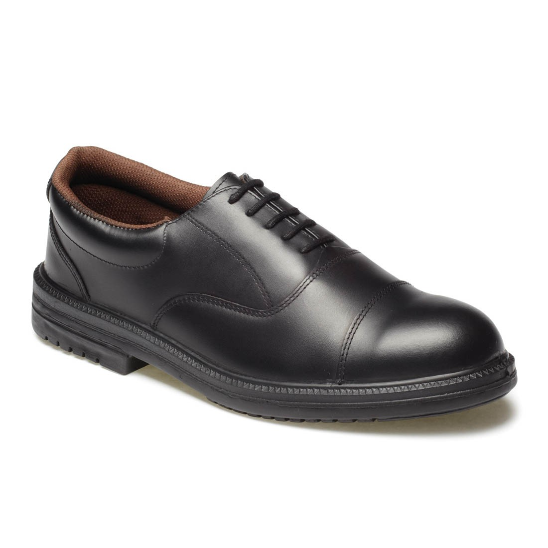 Dickies Oxford Executive Mens Black Leather Smart Formal