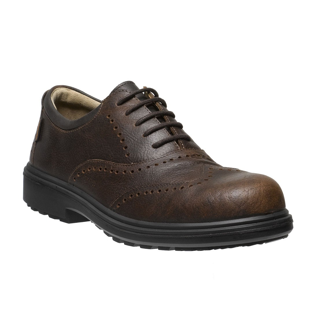 Brown Brogue Safety Shoes