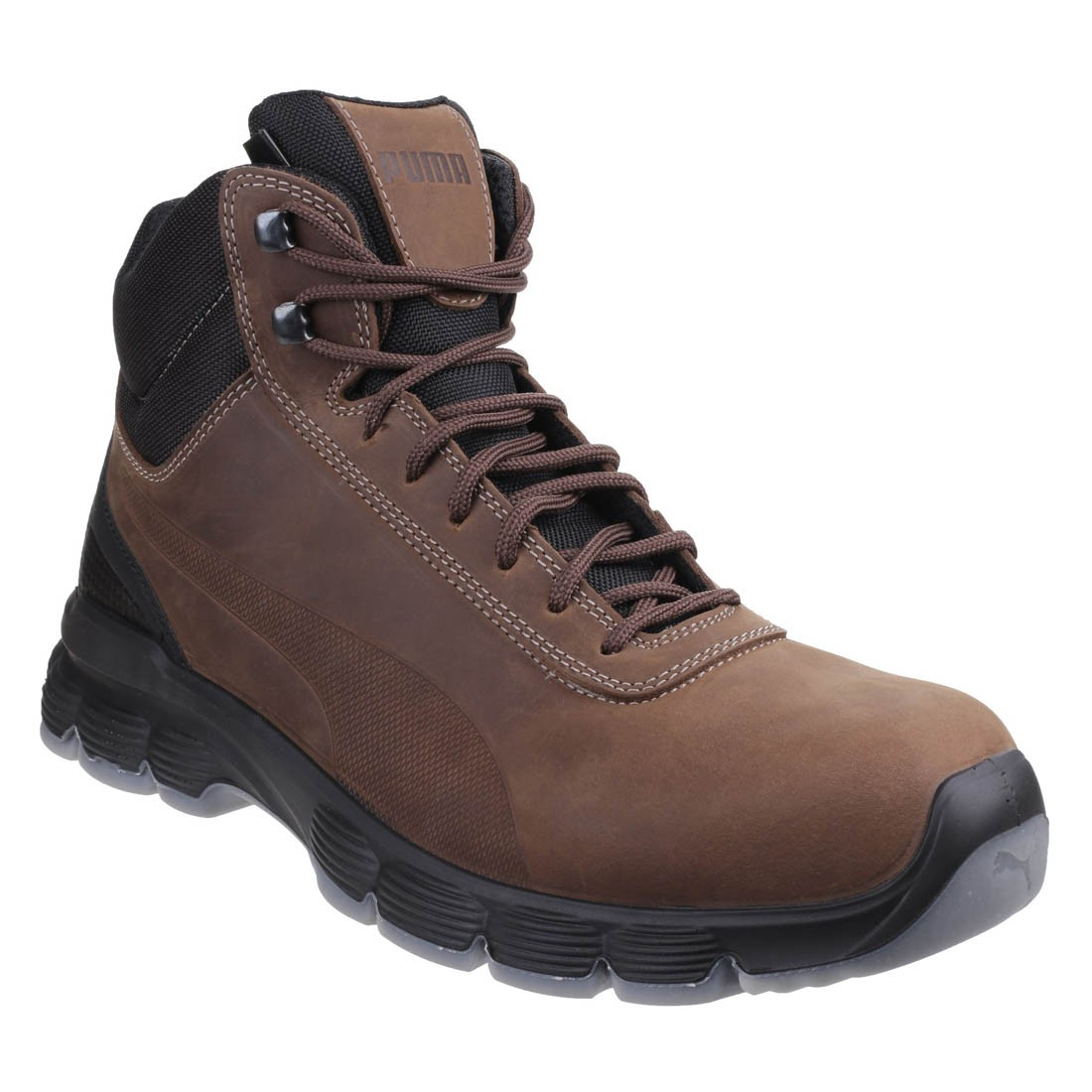 Puma Safety Condor Hikers Crazy Horse Brown Leather Mens