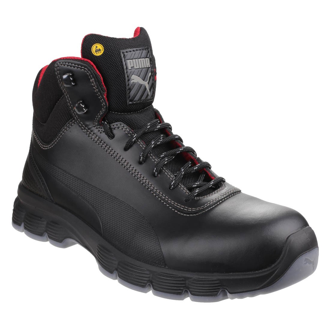 Puma Safety Pioneer S3 Esd Smooth Black Leather Mens Hiker