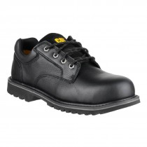 Cat Electric Clic Black Leather Four Eyelet Mens Safety Work Shoes