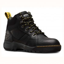 a00db1efe40 Dr Martens Industrial Grapple Black Leather Hiker Style Safety Work Boots